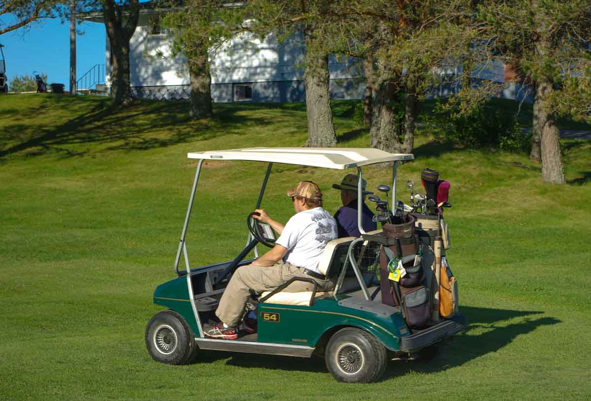 Golf cart at the Sackville Golf & Country Club